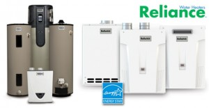 Different models of Reliance water heaters
