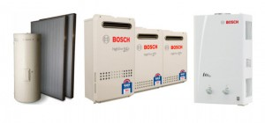 Different models of Bosch water heaters