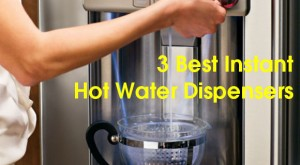 A person getting instant hot water from a hot water dispenser