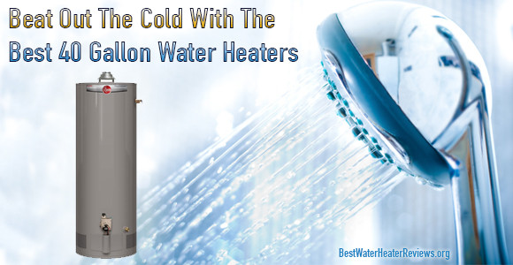 Getting a hot shower using a 40-gallon water heater