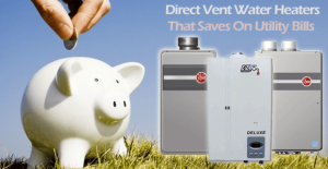 utility bills savings with direct vent heaters